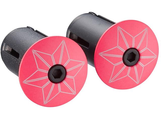 Supacaz Star Plugz Handlebar End Caps, hot pink-pulverbeschichtet